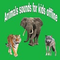 Animals sounds app for kids offline icon
