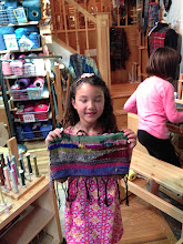 Photo: first ever weaving in the mommy and me class