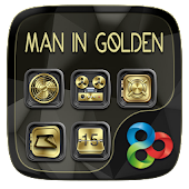 Man In GoldenGO Launcher Theme