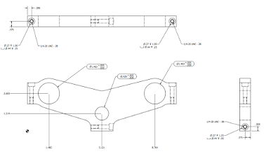 Photo: Prototype plans for a tripple clamp.