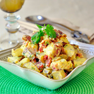 Bacon Potato Salad with Sweet Mustard Dressing.