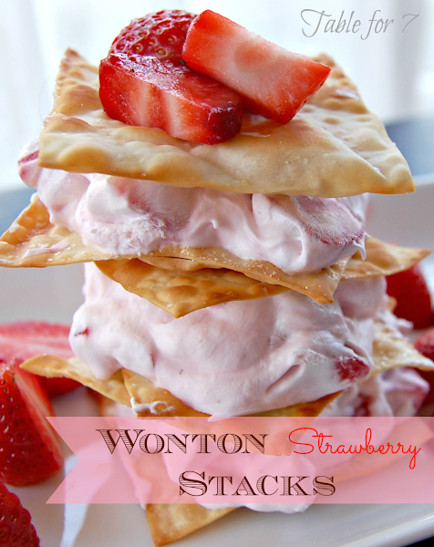 Photo: {New Post} For your sweetie or just yourself :) Wonton Strawberry Stacks http://www.ourtableforseven.com/2013/02/wonton-strawberry-stacks.html #strawberryrecipe   #wontonrecipe   #valentinesday2013