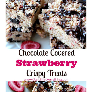 Chocolate Covered Strawberry Crispy Treats Recipe
