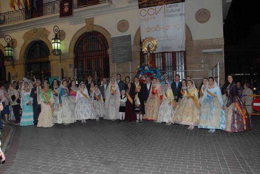 Las falleras mayores de FJFS participan en las celebraciones del Pilar
