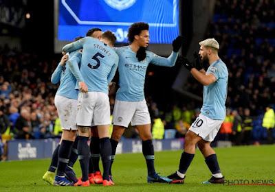 Manchester City wint op het veld van Everton