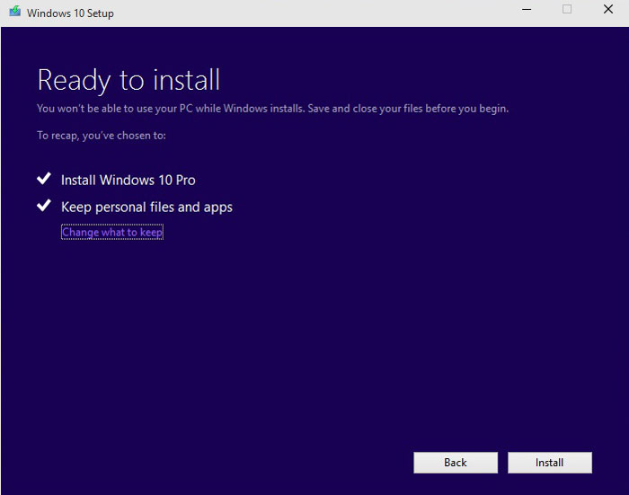 How to Install Windows 10 Pro step 6