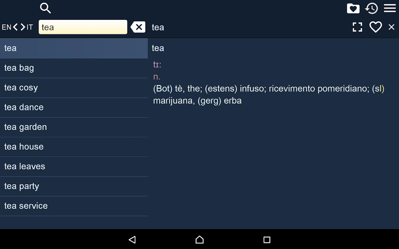 English Italian Dictionary Fr- screenshot