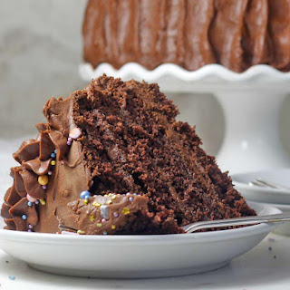 Chocolate Cardamom Vegan Cake with Whipped Chocolate Frosting.