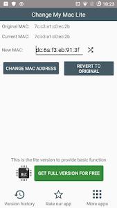 Change My Mac Lite 0.0.9