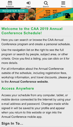 Screenshot for CAA 2019 in United States Play Store