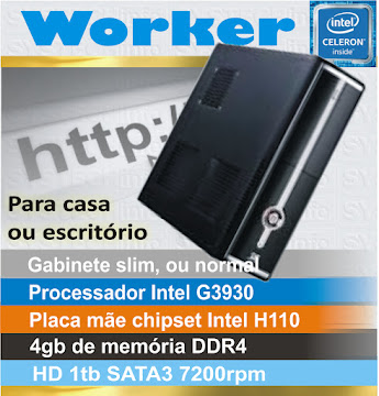 CPU computador Worker - Intel G3930 7ª geração