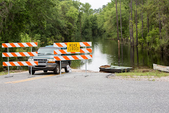 Photo: the road is closed, how to get home