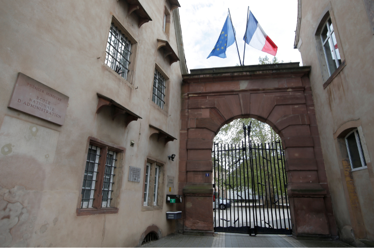France's National School of Administration, ENA, (Ecole Nationale d'Administration) a postgraduate school was founded in 1945 by Charles de Gaulle to train a postwar administrative elite drawn from across all social classes.