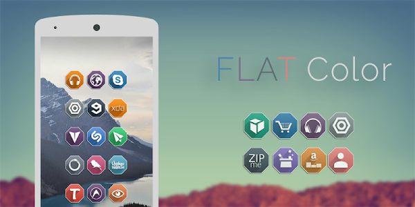 FLAT Color - Icon Pack v1.0.7