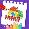 🎨❤ Kids Coloring Book Games Free: Preschool Games icon