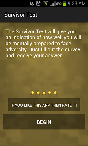 Survivor Personality Test
