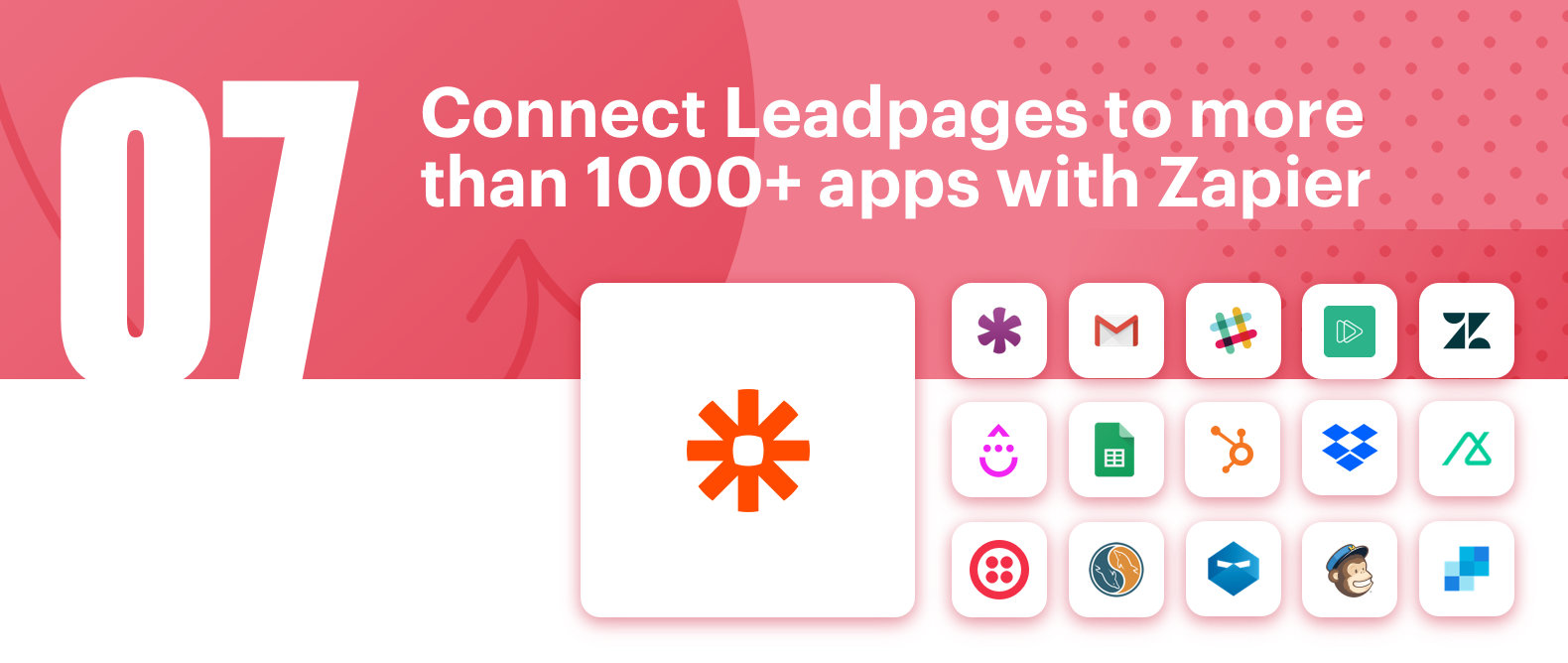 Connect Leadpages to more than 1000+ apps with Zapier