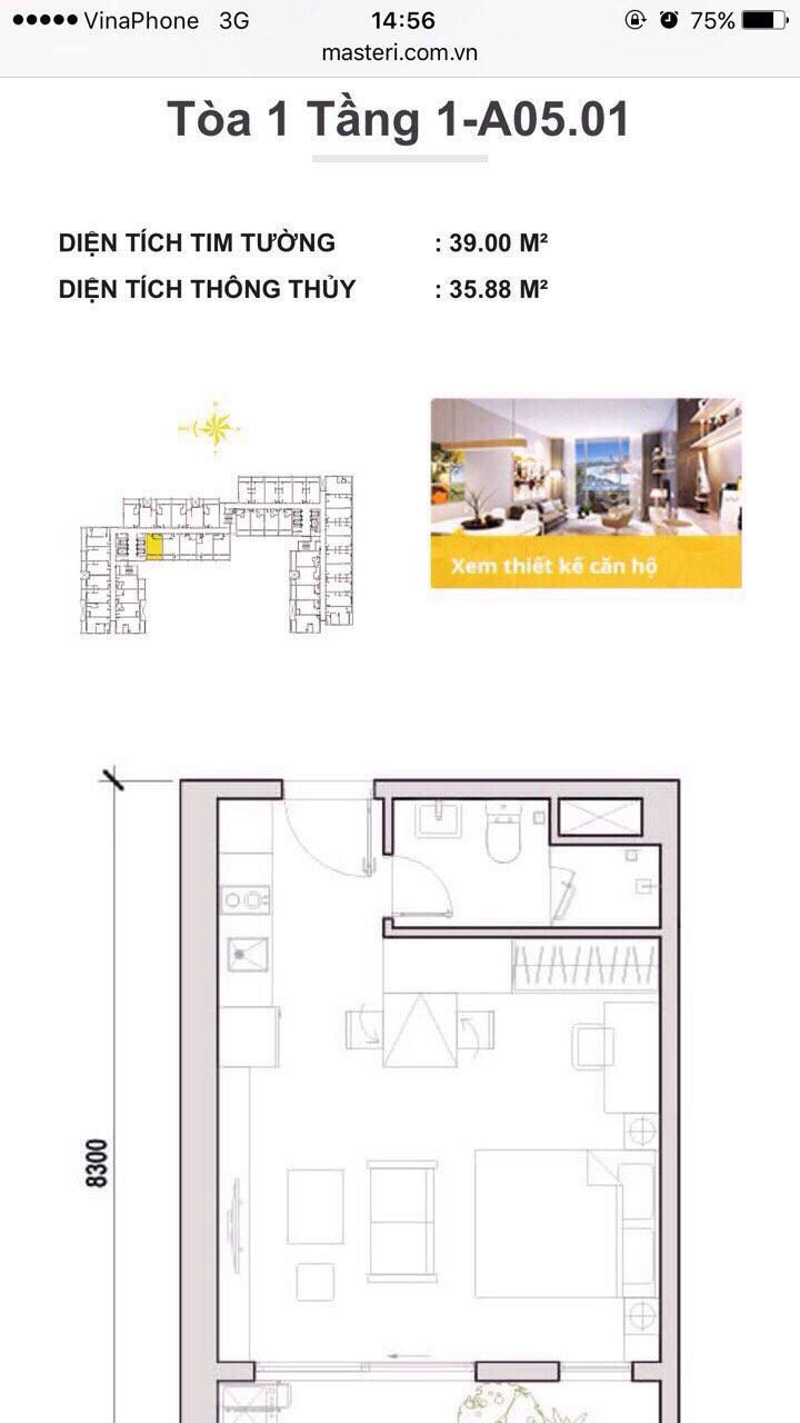 Bán căn hộ officetel Dự án M-One Nam Sài Gòn, Quận 7, Hồ Chí Minh diện tích 40.0m2 giá 1.35 Tỷ