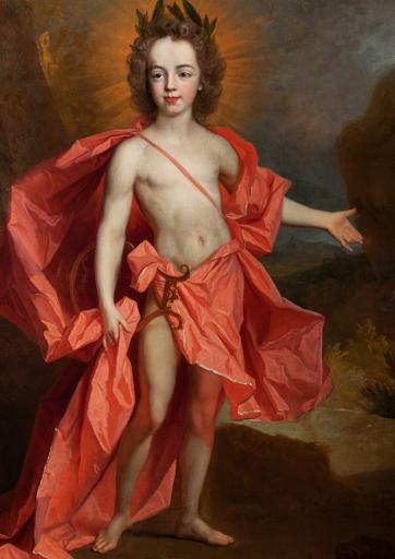 Segoura Fine Art - Atelier de Largillière Portrait d'enfant en Apollon