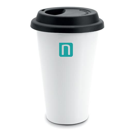 Double Walled Ceramic Coffee Mug