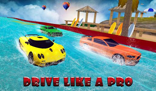 Water Slide Car Stunt Race