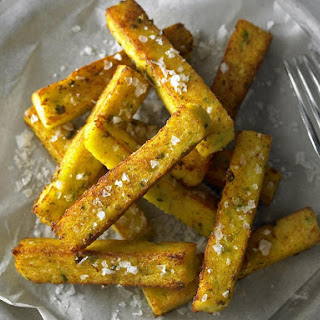 Polenta, Cauliflower and Pea Fries