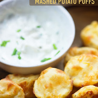 Sour Cream and Chive Mashed Potato Puffs.