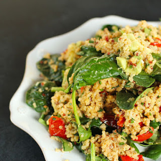 Quinoa with Roasted Tomatoes and Tahini Dressing
