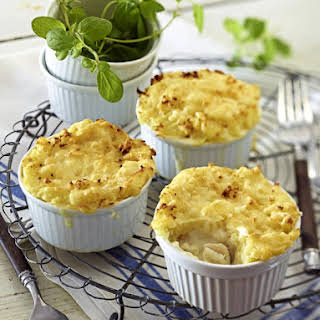 Mini Fish Pies with Mashed Potato Topping.