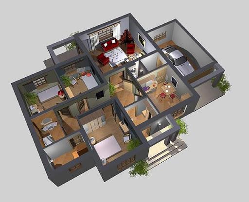 APS 052 - Rzut parteru 3D