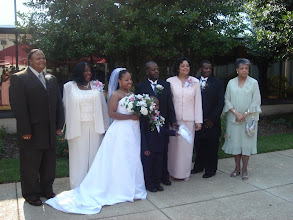 Photo: Tanesha & Rashid with our parents, step-parents, and step-grandmother.