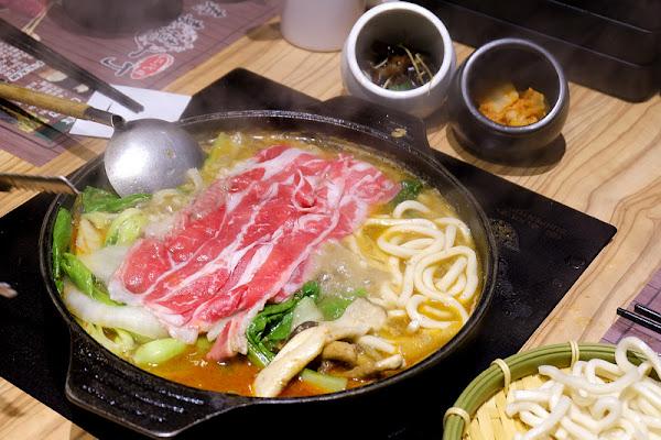 【新莊】:壽喜燒一丁 ♥ 無肉不歡者請進,跟臉一樣長的大片牛肉