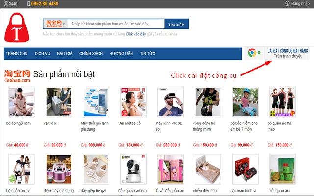 TÍN PHONG - Công cụ mua hàng Taobao