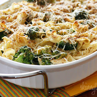 Chicken and Broccoli Noodle Casserole.