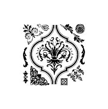 Prima Iron Orchid Designs Decor Clear Stamps 12X12 - Arabesque