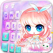 Anime Kawaii Girl Keyboard Theme