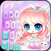 Anime Kawaii Girl Keyboard Theme