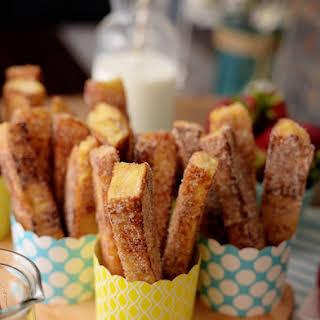 Easy Cinnamon French Toast Sticks.