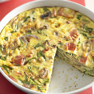 Prosciutto and Spinach Frittata.