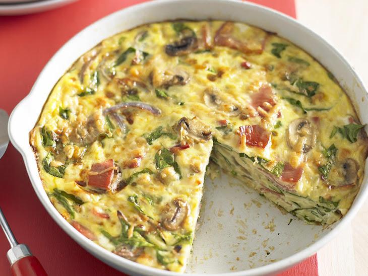 Prosciutto and Spinach Frittata Recipe