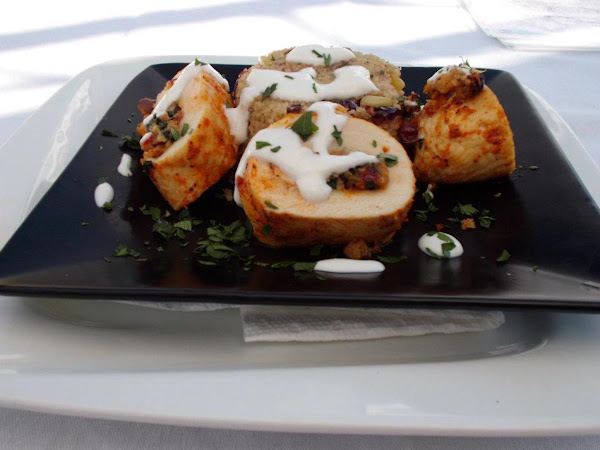 Mediterranean Stuffed Chicken Breast With Couscous Recipe