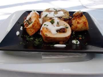 Mediterranean Stuffed Chicken Breast with Couscous
