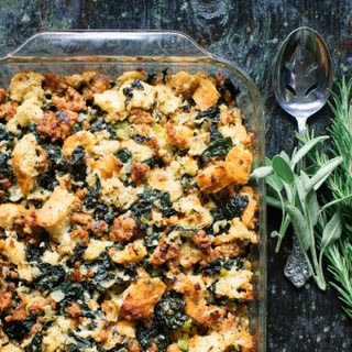 Italian Kale and Sausage Stuffing.