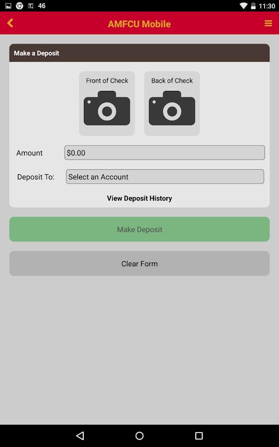 AMFCU - screenshot