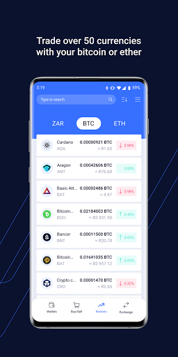 VALR - Bitcoin Exchange & Cryptocurrency Wallet screenshot 5