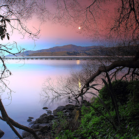Framing the Moon by Greg Van Dugteren - Landscapes Waterscapes