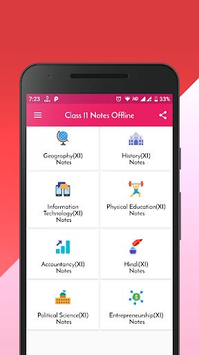 Class 11 Notes Offline 1.3 screenshots 2