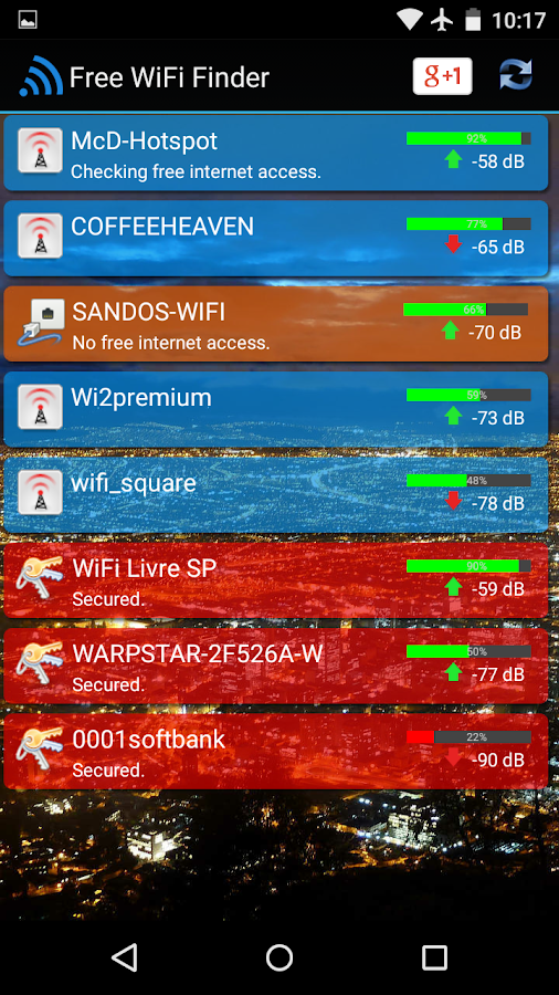 Free WiFi Internet Finder- screenshot