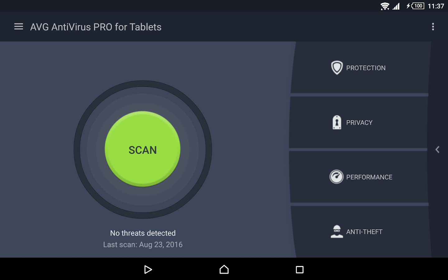 Tablet AntiVirus Security PRO- screenshot