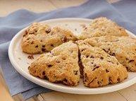Bisquick® Cherry-Chocolate Chip Scones Recipe | Just A Pinch Recipes